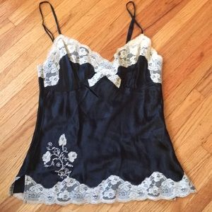 Tops - Black With Lace Rockabilly Pin Up Tank Top